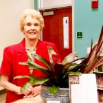 Ruth and library plant